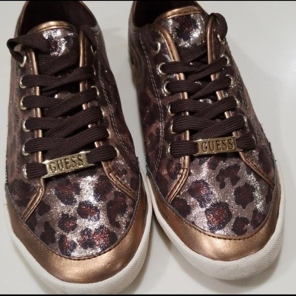 Guess Shoes | Cheetah Print Sneakers